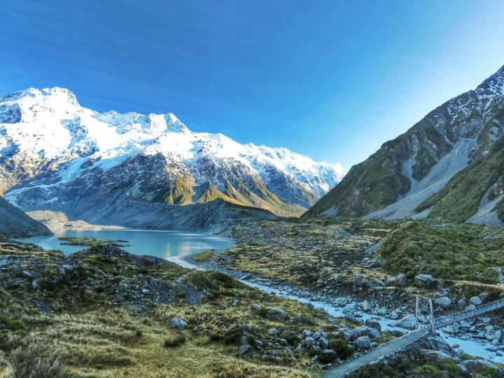 คุณพ่อจัดทริปยกครอบครัวไป Hiking บนเส้นทางธรรมชาติ Hooker Valley Track นิวซีแลนด์