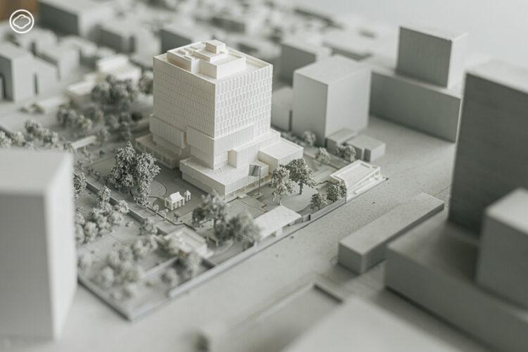 The NOX ตึกออฟฟิศใหม่ล้อมด้วยต้นไม้ในสถานทูตอเมริกา ที่สร้างจากแนวคิดเพื่อสิ่งแวดล้อม