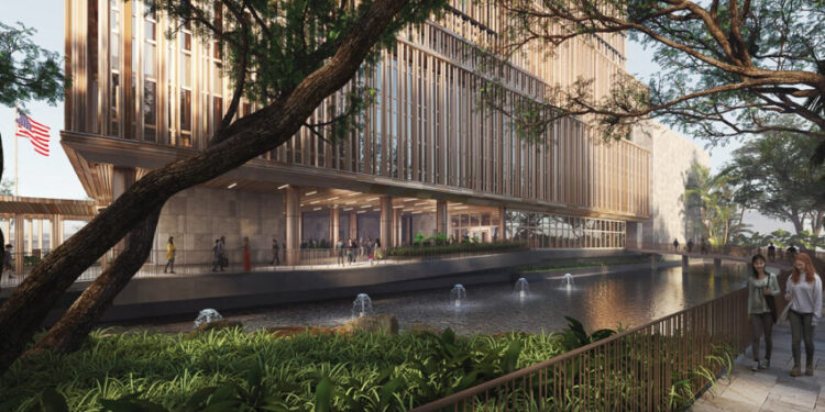 คุยกับอุปทูตอเมริกา ไมเคิล ฮีธ และทีมสถาปนิกจากนิวยอร์ก ถึงการสร้างออฟฟิศใหม่เพื่อความยั่งยืนใจกลางถนนวิทยุ